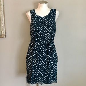 Vera Wang Lavender Label Silk Polka Dot Dress